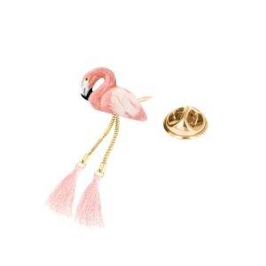 Pin's Flamingo Pompom