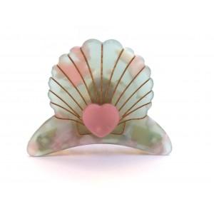 Pince Mermaid Vert & Rose