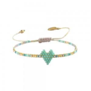 Bracelet Coeur Menthe