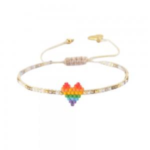 Bracelet Coeur Multicolore