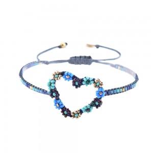 Bracelet Grand Coeur Bleu