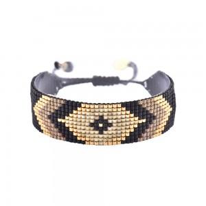 Bracelet Losange Noir M