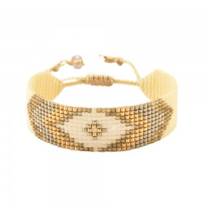 Bracelet Losange Blanc M