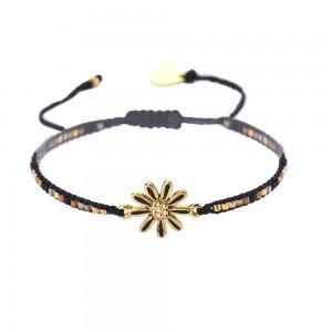 Bracelet Petite Fleur Noir