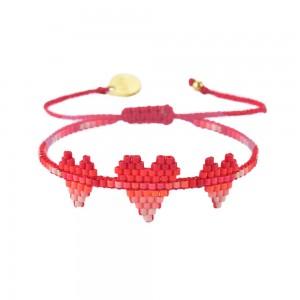 Bracelet Multi-Coeurs Rose