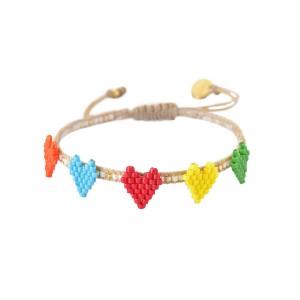 Bracelet Multi-Coeurs Rainbow