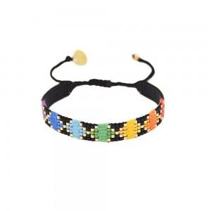 Bracelet Noir & Multicolore