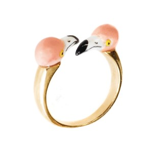Bague Double Flamingo
